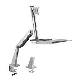Soporte de escritorio ergonómico para estación de trabajo