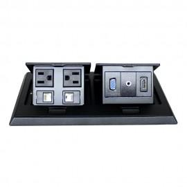 Panel con Conectores CONFIGURABLE / Multicontactos de mesa